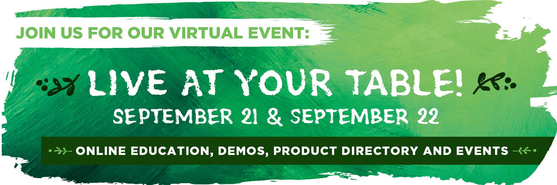 Live At Your Table Virtual Event