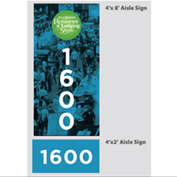 Aisle Sign - $1,00 per sign/$8,500 Exclusive