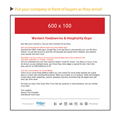 exclusive welcome email - $3,000